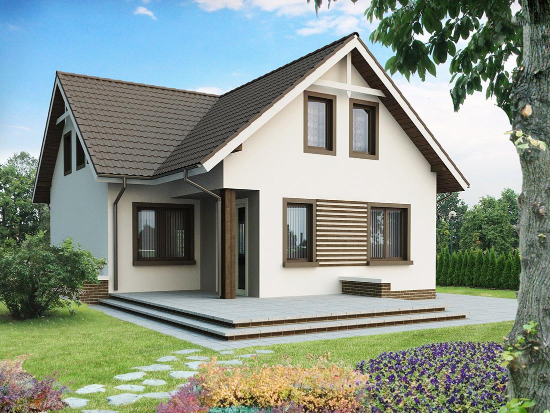 Дачные дома с мансардой фото