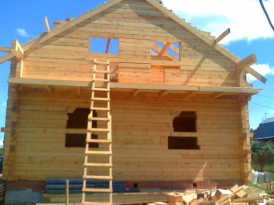 Дом из бруса своими руками проекты фото