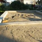 Песок бетонного пола по грунту